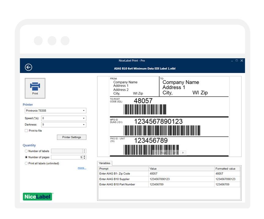 Uinou - Print & Solutions - Soluções de Impressão e Codificação - Software Nice Label - Design e Impressão de Etiquetas de Códigos de Barras