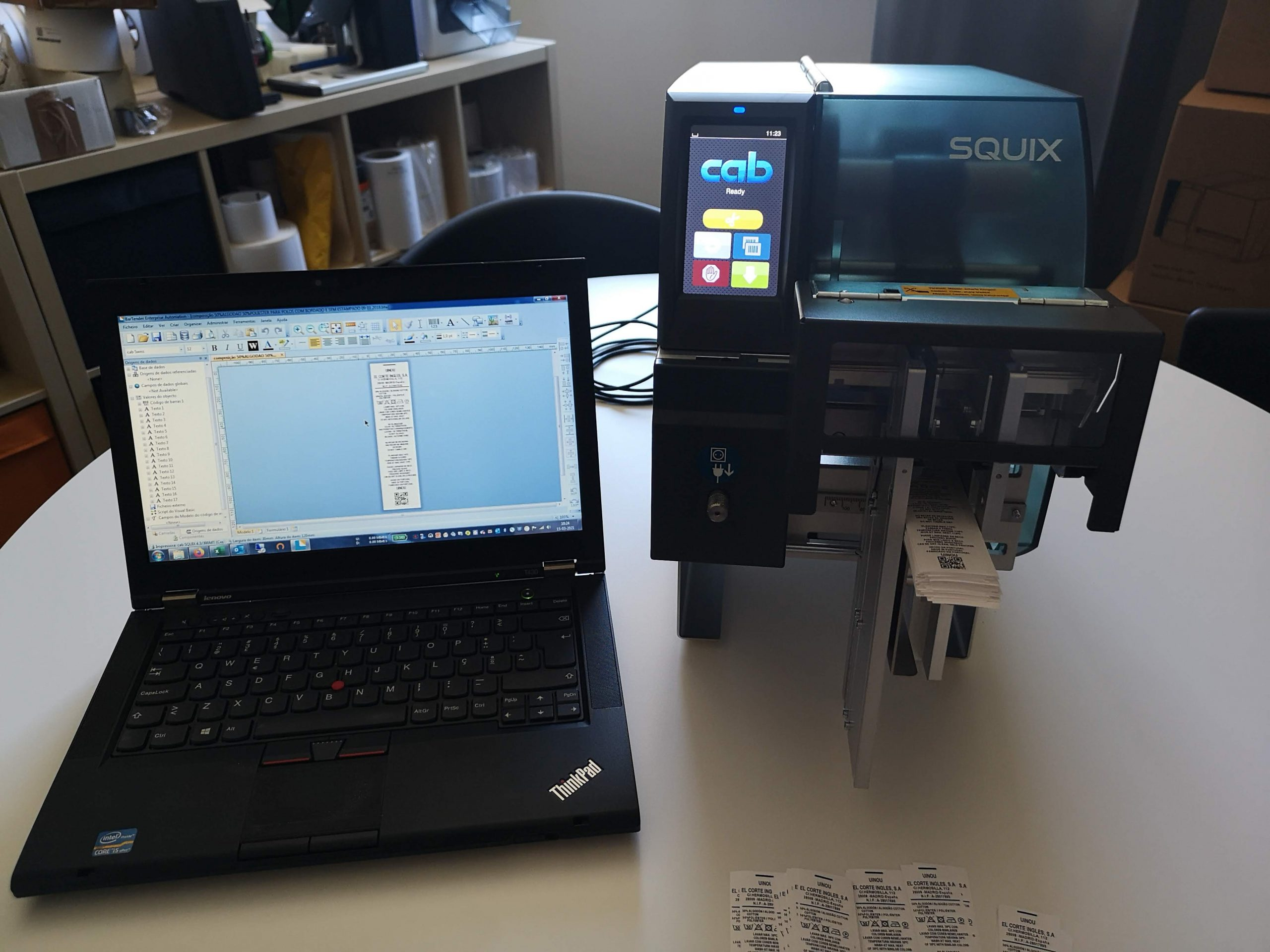 Impressora CAB SQUIX 4 MT Cortador Empilhador